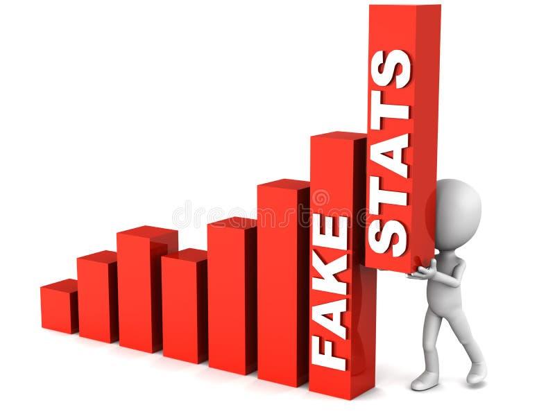 Stats di falsificazione illustrazione di stock