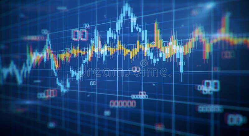 Stats e conceito da finança ilustração do vetor