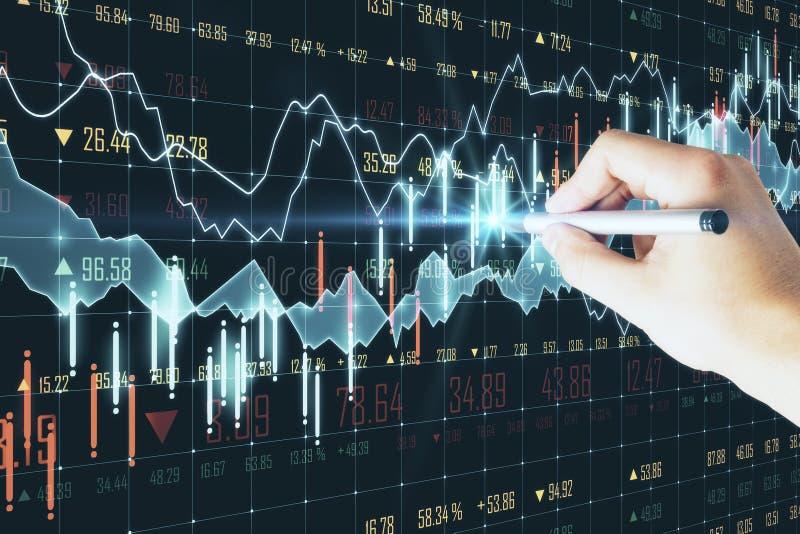 Stats en economieconcept stock foto