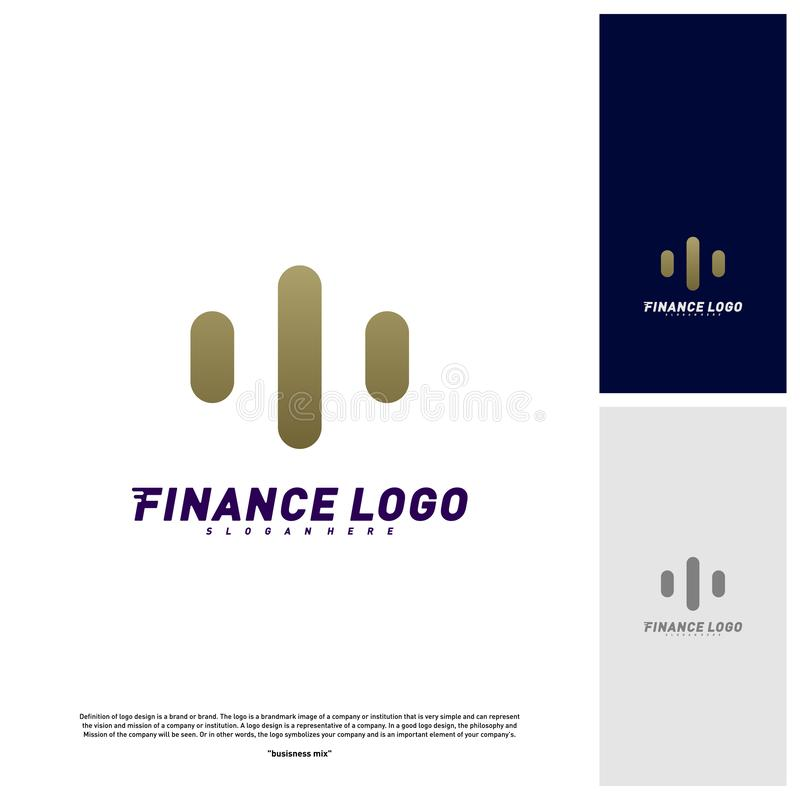 Stats Financial Advisors Logo Design Concept. Finance logo Template Vector Icon stock illustration