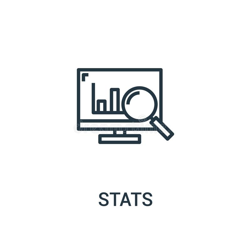 stats icon vector from seo collection. Thin line stats outline icon vector illustration. Linear symbol for use on web and mobile royalty free illustration