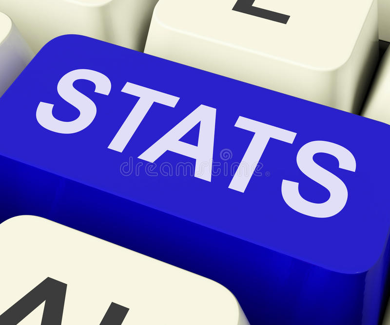 Stats Key Shows Statistics Report Or Analysis. Stats Key Showing Statistics Report Or Analysis stock photography