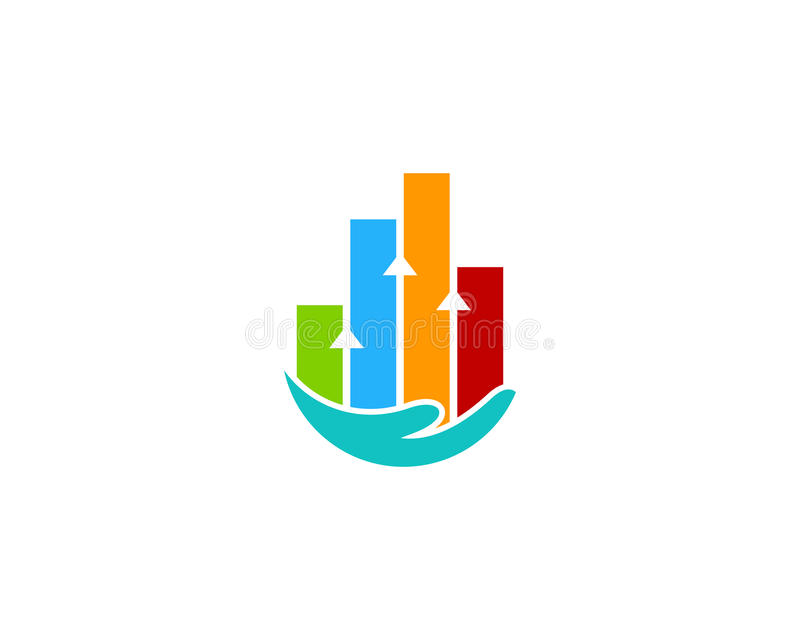 Stats raportu opieki ikony loga projekta element ilustracja wektor