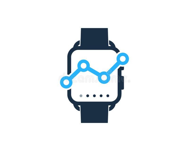 Stats sztuki zegarka loga ikony Mądrze projekt royalty ilustracja