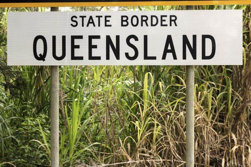 Statsgräns - Queensland arkivbild