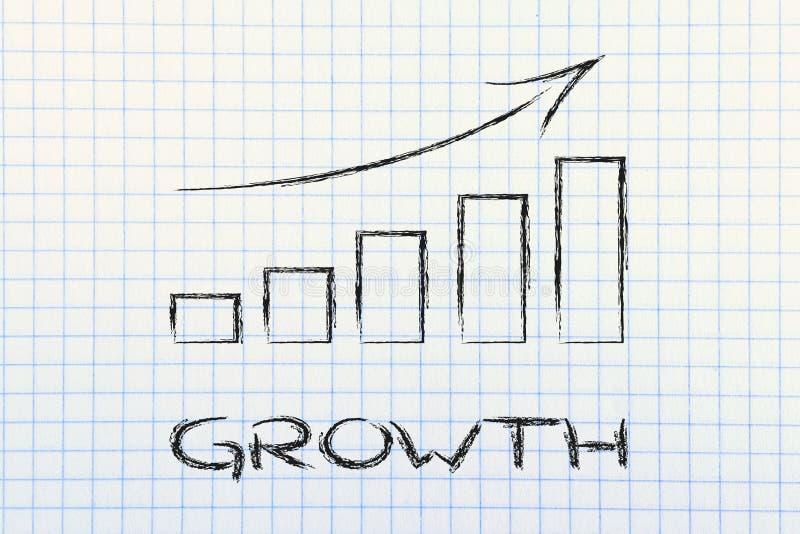 Statsgrafiek die de groei en positieve resultaten tonen royalty-vrije stock fotografie