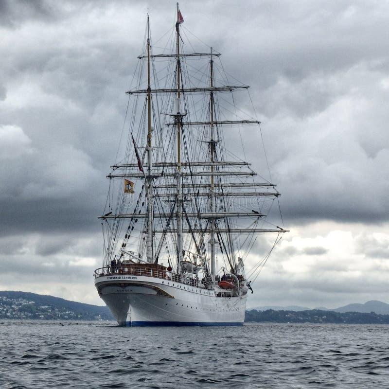 Statsraad Lehmkuhl - sailboat royalty free stock photo