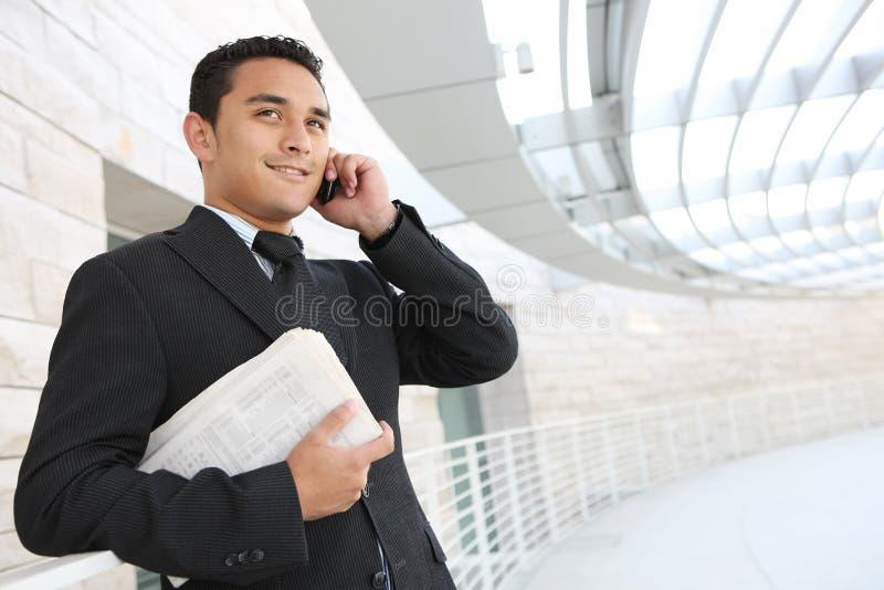 Stattlicher Geschäftsmann im Büro stockbilder