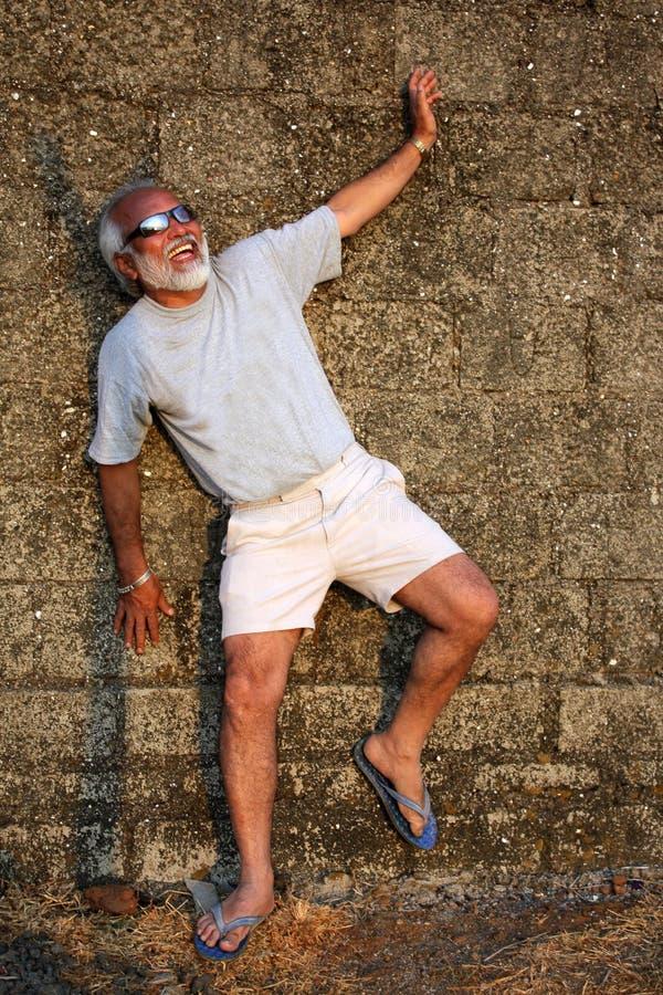 Stattlicher indischer Älterer stockfotos