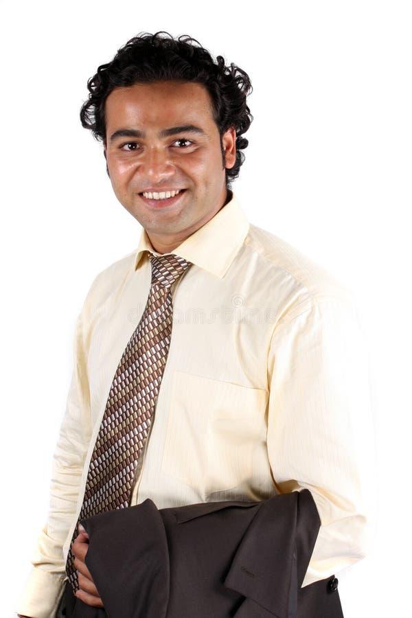 Stattlicher indischer Geschäftsmann stockbild