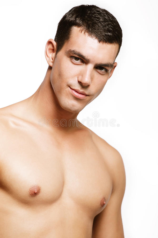 Stattlicher junger Mann stockfoto
