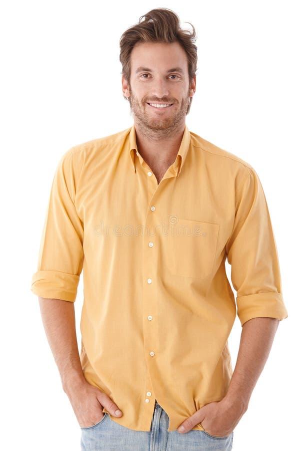 Stattlicher lächelnder Mann stockbild