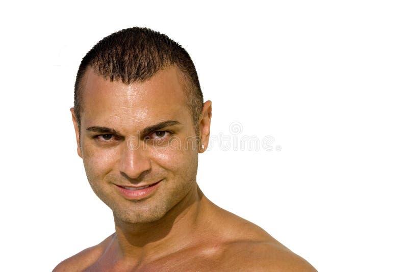 Stattliches junger Mann-Lächeln lizenzfreies stockfoto