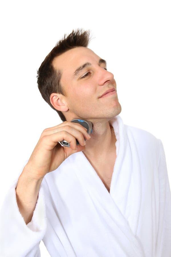 Stattliches Mann-Rasieren stockfoto