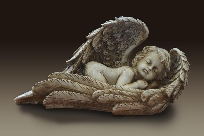 Statua śliczny dziecięcy anioła amorek obraz royalty free