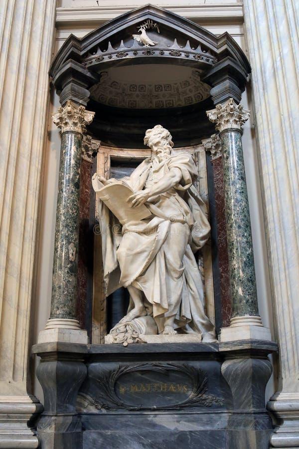 Statua święty Matthew Camillo Rusconi zdjęcie stock