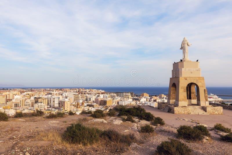 Statua Święty serce Jezus w Almeria obraz stock
