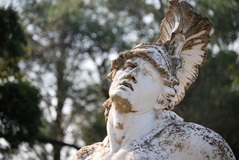 Statua Achilles konanie w ogr?dach Achilleion obraz royalty free