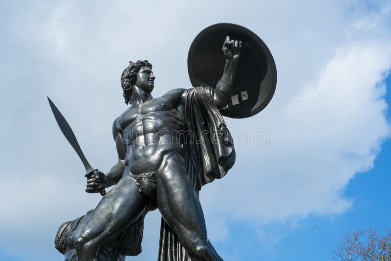 Statua Achilles w Hyde parku, Londyn zdjęcia royalty free