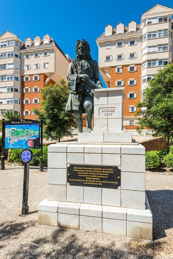Statua Admiral Sir George Rooke w Gibraltar obrazy stock