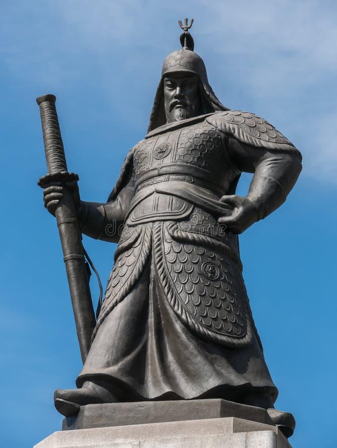 Statua Admiral Yi grzech obrazy stock