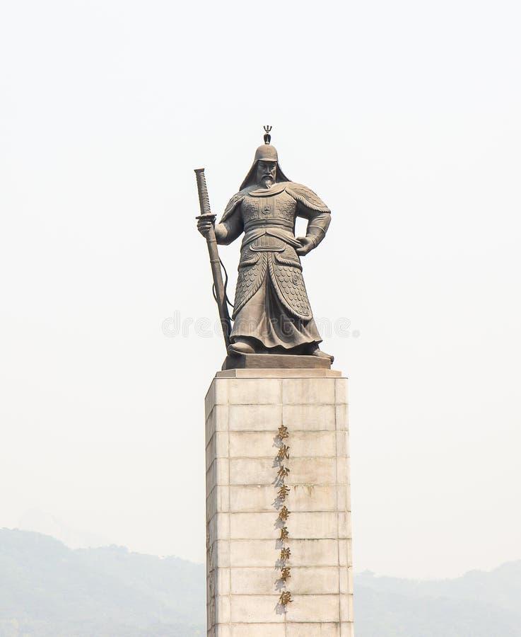 Statua Admiral Yi grzech wielki wojownik obraz royalty free