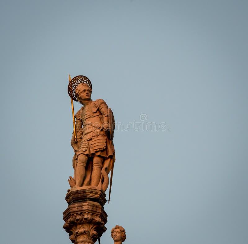 Statua ai segni della st fotografie stock libere da diritti