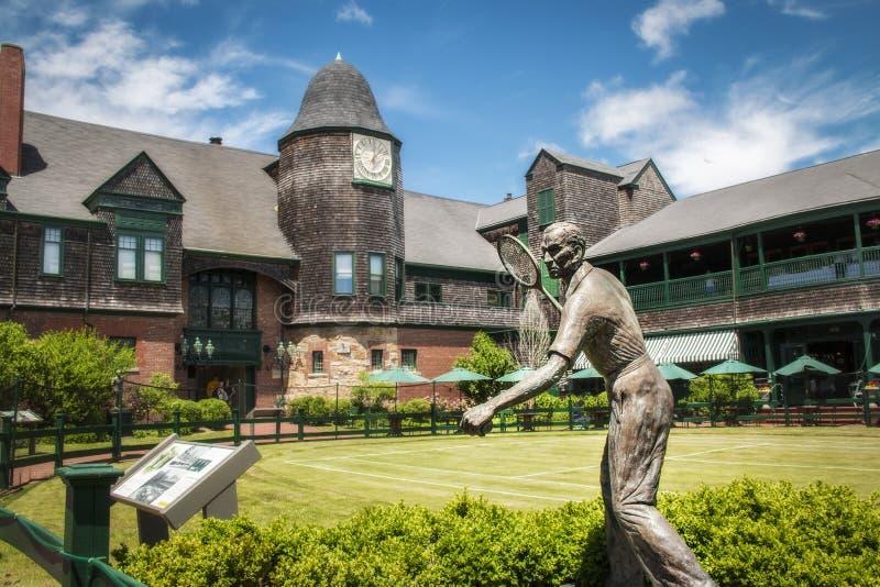 Statua al hall of fame di tennis a Newport Rhode Island immagine stock libera da diritti