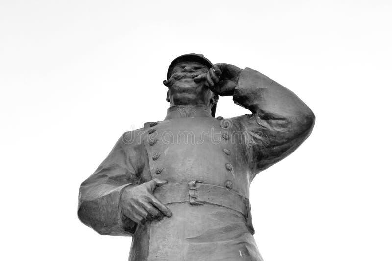 Statua al vigile del fuoco fotografia stock libera da diritti