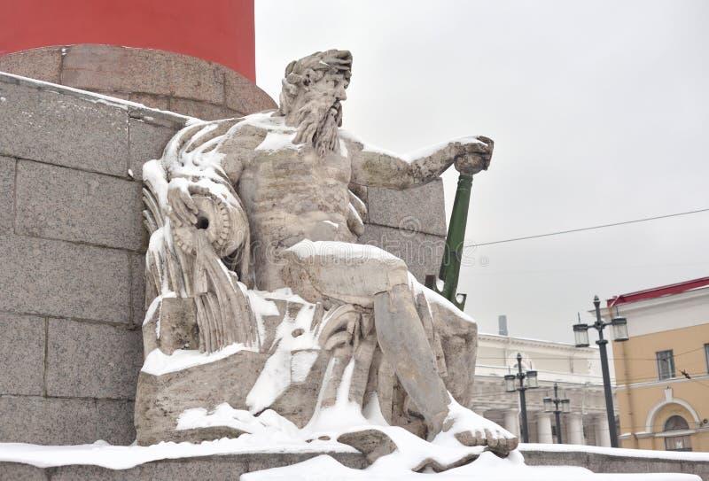 Statua alegoria Zaporoska rzeka zdjęcia royalty free