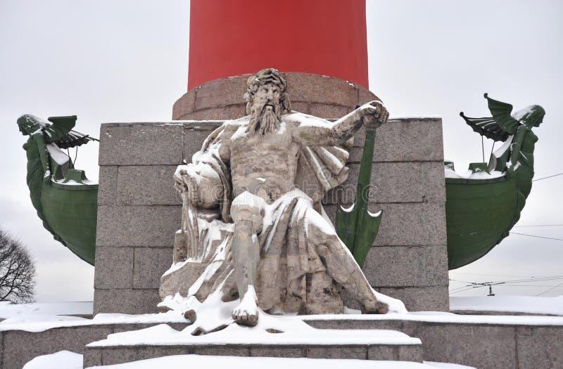 Statua alegoria Zaporoska rzeka obrazy royalty free