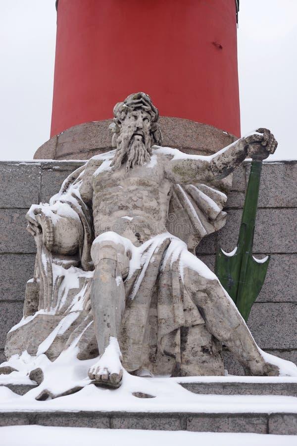 Statua alegoria Zaporoska rzeka fotografia stock