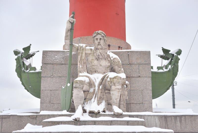 Statua alegoria Zaporoska rzeka zdjęcie royalty free