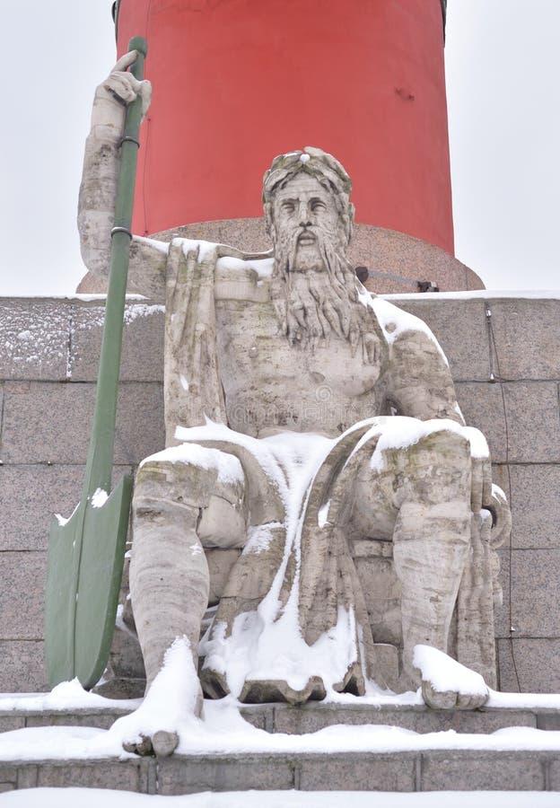 Statua alegoria Zaporoska rzeka obraz royalty free
