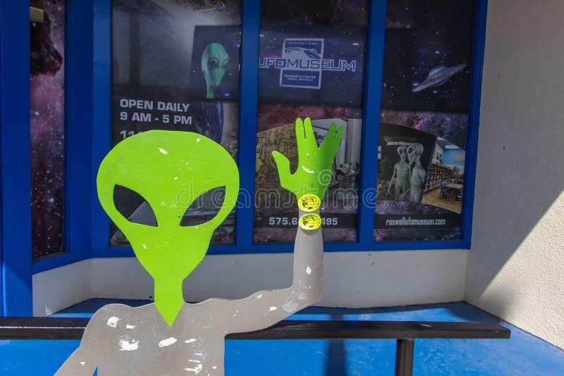 Statua Aliena Del Roswell Nuovo Messico immagine stock