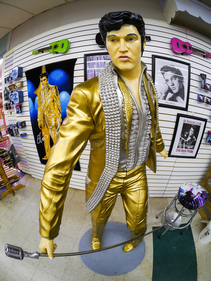 Statua alla fabbrica delle coperture, piede di Elvis di Florida del Myers fotografia stock libera da diritti