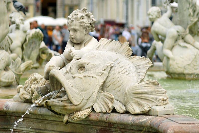 Statua amorek obrazy royalty free