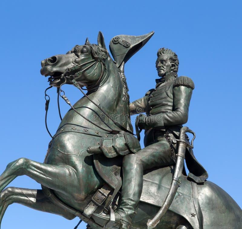 Statua Andrew Jackson, washington dc zdjęcia royalty free