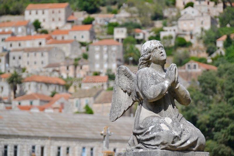 Statua anioł obraz stock