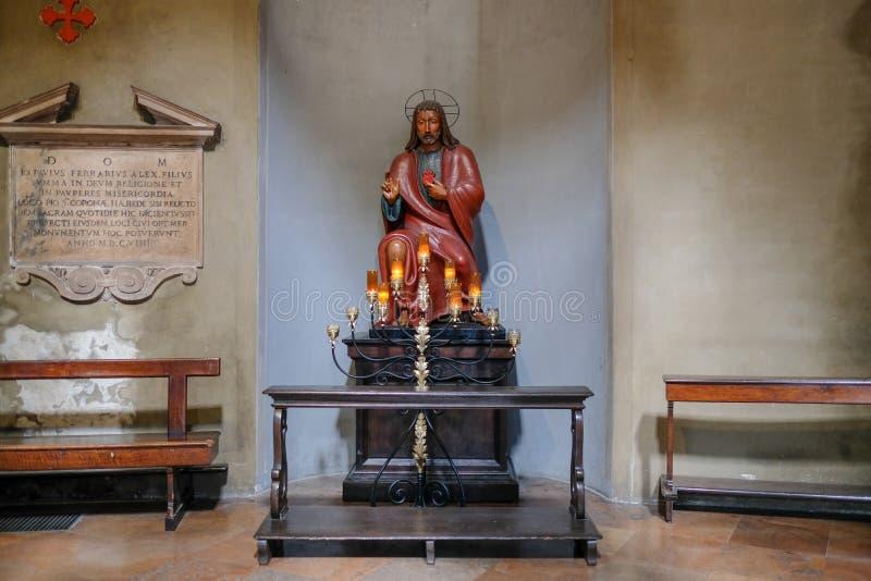 Statua antica di Gesù fotografia stock libera da diritti
