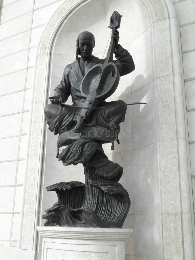 Statua a Astana fotografia stock