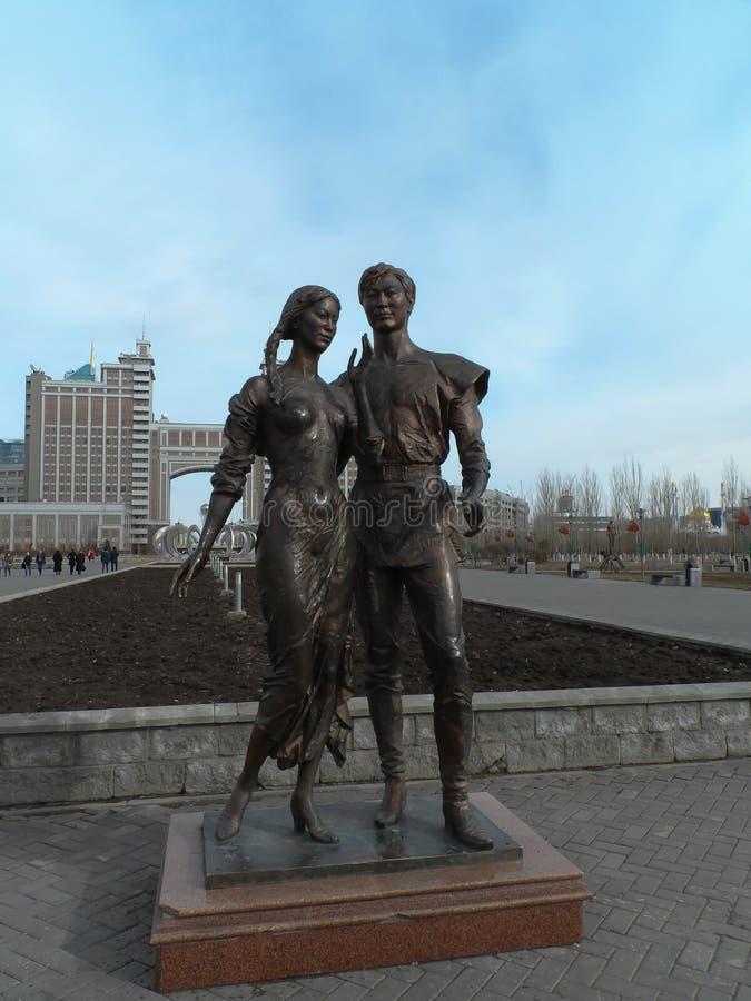 Statua a Astana fotografie stock