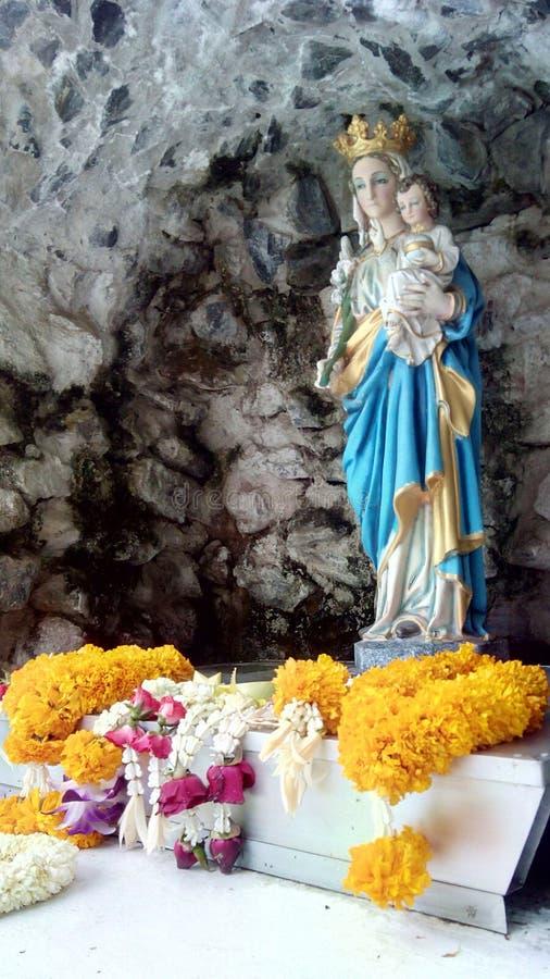 Statua benedetta della Mary di Virgin fotografia stock