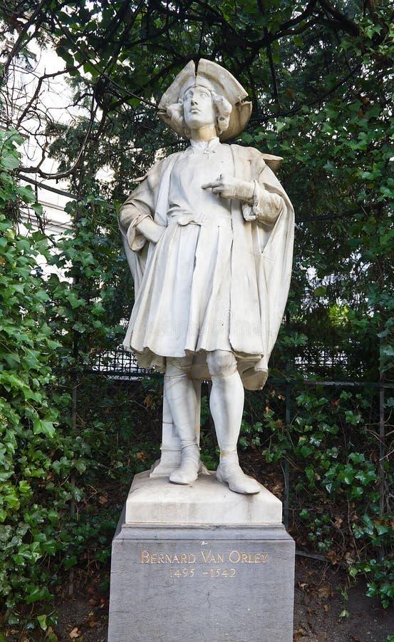 Statua Bernard Samochód dostawczy Orley Bruksela, Belgia (około c XIX.) obrazy royalty free
