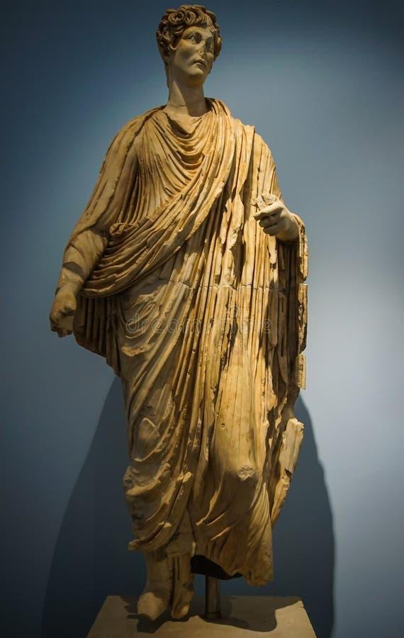 Statua bogini od Aphrodisias Afrodisias Antycznego miasta w Caria zdjęcie royalty free