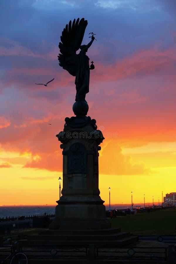 Statua Brighton di pace di angelo fotografia stock