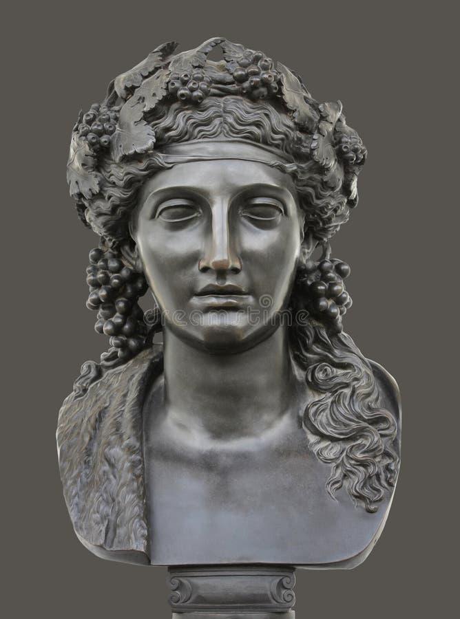 Statua bronzea di Dionysus fotografia stock