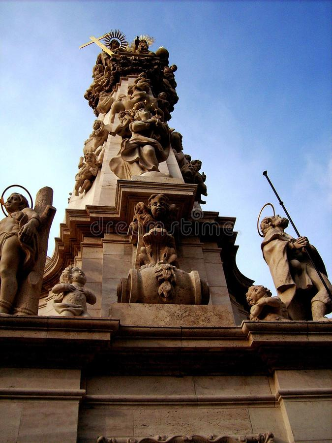 Statua a Budapest fotografia stock libera da diritti