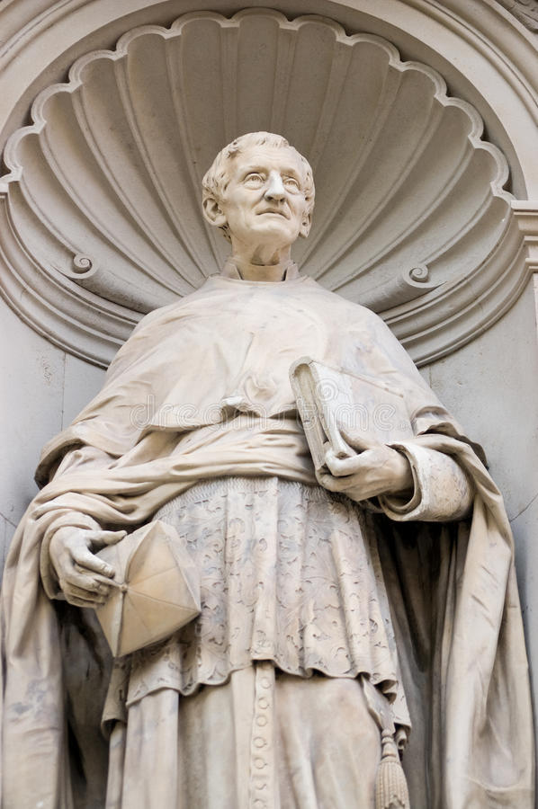 Statua cardinale del John Henry Newman immagine stock