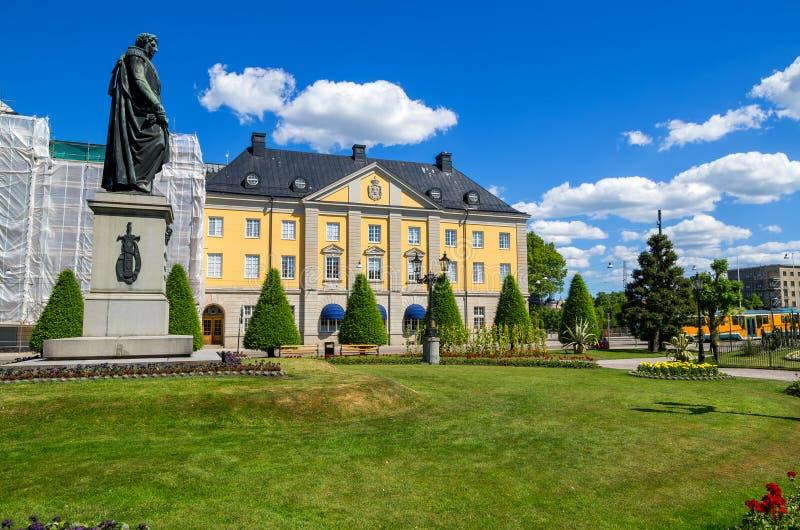 Statua Carl XIV. Norrkoping, Szwecja zdjęcie royalty free